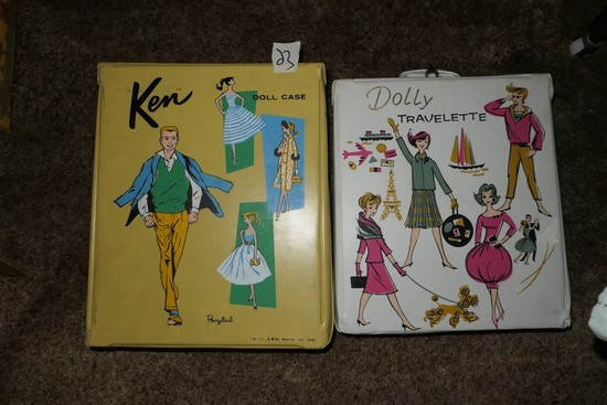 Barbie Dolly Travelette + Contents + Ken