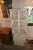 Wicker Style Storage Cabinet