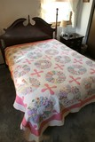 Large Nice Antique Hand Stitched Quilt