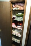Closet Full of linens, blanket, towels etc