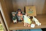 Group Lot Native American Tourist Dolls 1940s