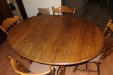 Nice Oak Dining Table + 4 Chairs