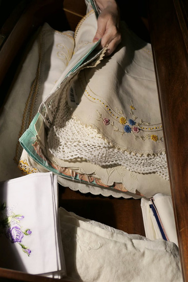 Drawer Lot of Old Linens