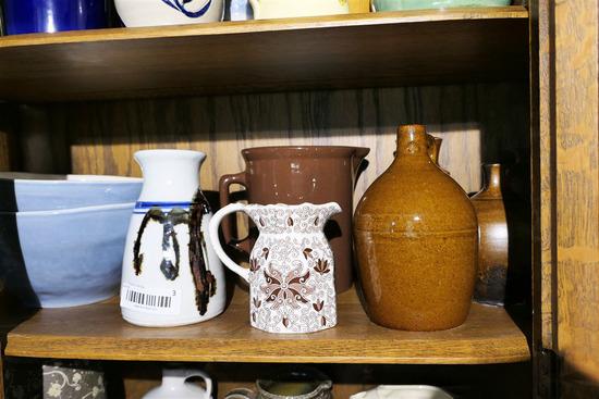 Shelf Lot Assorted Stoneware, Ceramics