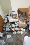 Large Lot Assorted China, Creamers, Glass etc