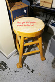 Group Lot 4 Vintage Paw Foot Stools