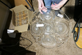 Large Punch Bowl Glass Tray & Cups