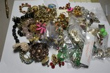 Large Bag Lot Misc. Costume jewelry