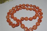 Very Unusual Necklace - Big Pink Coral Beads