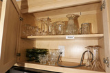 Two Shelf Lots assorted glass