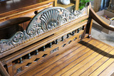High Quality Arhaus Bench w/Carvings