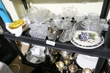 2 Lots Assorted Glass, Silver Plate etc.