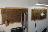 Two Shop Peg Boards with Hangers