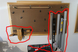 Items on Peg Board - Clamps etc