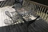 Vintage Metal Patio Table, Chairs set