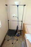 Chair, lamp, clothing hanger