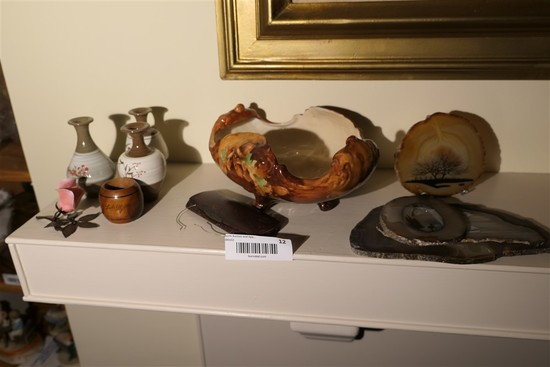 Group of misc items on mantle