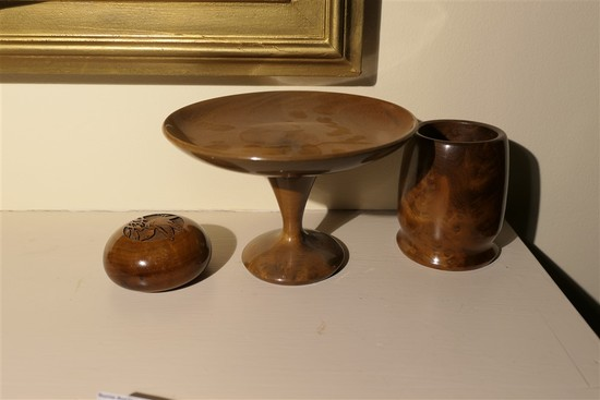 Group lot of Oregon Myrtlewood pieces