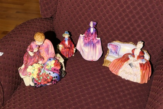 Group lot of better Royal Doulton pieces
