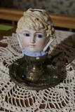 Rare Victorian Night Light - Doll Head