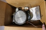 Box Lot of Old Gauges Inc. Large Antique Example