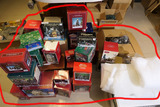 Very Large Lot Christmas Village Buildings in Boxes