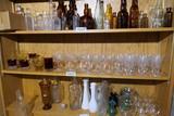 Shelf Lot antique glass