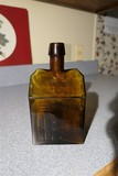 Rare Booz's Old Cabin Whiskey Bottle Original Amber