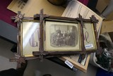 Antique photograph, greeting in frames