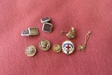 Assorted antique jewelry including gold