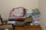 Large grouping of linens, fabrics