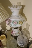 Antique Large Gone With the Wind Style Lamp