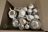 Box lot of old English china