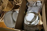 2 Boxes assorted china