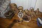 Large lot assorted baskets
