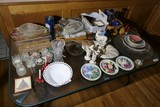 Table lot assorted vintage etc items