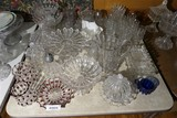 Large collection EAPG  broken column glassware Inc. ruby