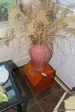 Antique painted bread box + Vase