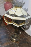 Large Vintage Stained Glass Lamp