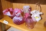 Large Lot assorted Fenton glass