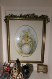 Framed watercolor painting by local artist - signed