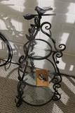 Nice metal and glass bird shelf