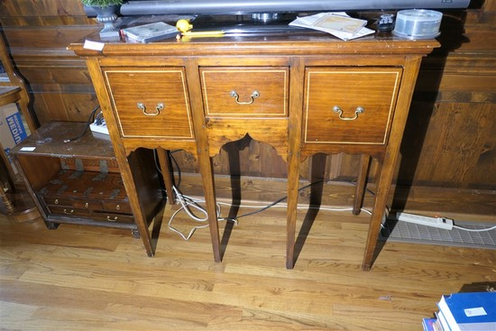 Unusual Eastern Style Tall Stand w/Drawers