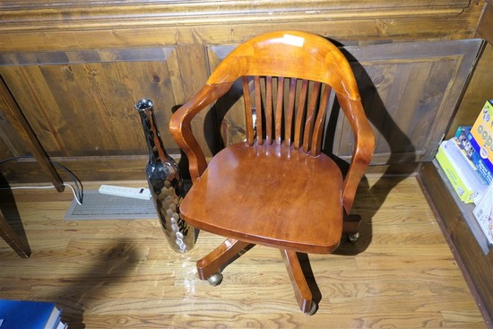 Wooden office chair & decor piece