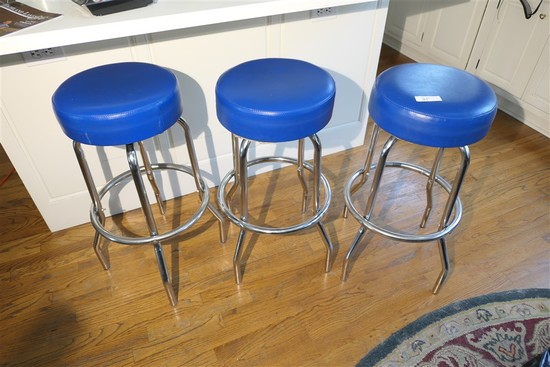 3 Vintage Kitchen or Bar Stools