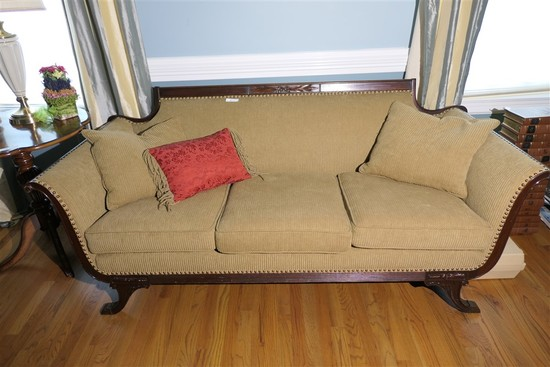 Vintage Empire Style Sofa or Couch