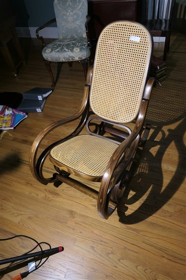 Antique bent wood rocking chair