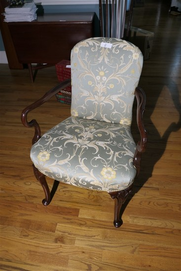 Nicely upholstered Queen Anne Armchair