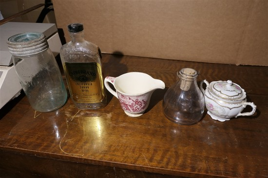 Canning Jar, Francis Scott Key Transferware etc lot