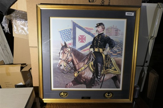 Civil war Maine Chamberlain Print Signed